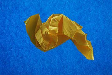 Blauw geel van Brigitte van Ark