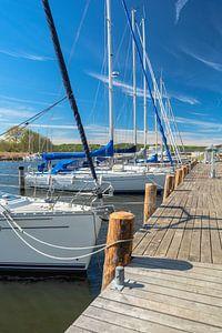 Segelschiffe im Hafen Seedorf bei Sellin, Rügen