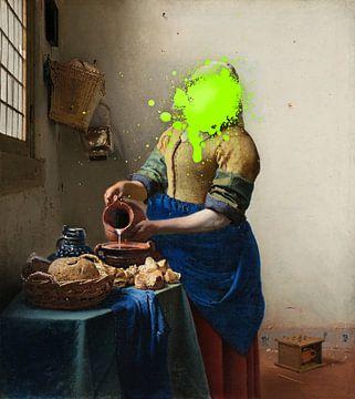 Het melkmeisje met verfvlek
