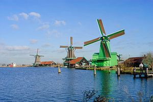 Windmolens op de Zaanse Schans, Netherlands