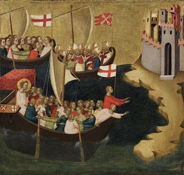 Bernardo Daddi, Ankunft der heiligen Ursula in Köln - 1333 von Atelier Liesjes