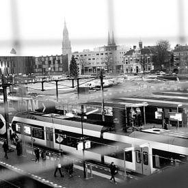 Station Delft 2015 bovengronds treinen van Mariska van Vondelen