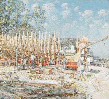 Childe Hassam, Bau des Schoners, Provincetown - 1900 von Atelier Liesjes