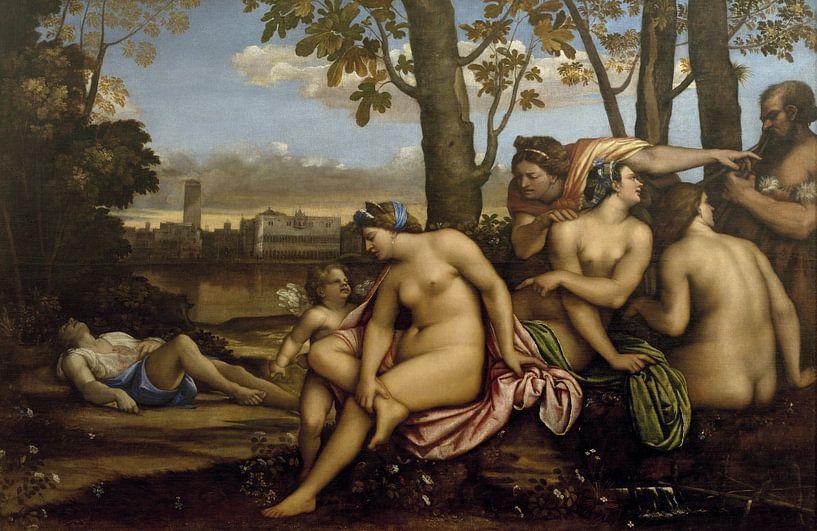 Death of Adonis, Sebastiano del Piombo von Meesterlijcke Meesters