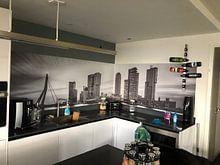 Klantfoto: Skyline van Rotterdam met de kop van zuid van eric van der eijk, op naadloos behang