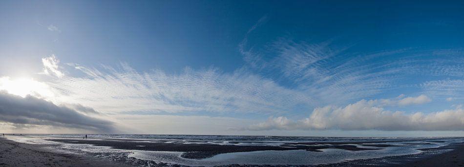 Zonsondergang aan het strand - Jan 2014 - 01 van Arjen Schippers