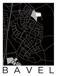Bavel | Stadskaart in ZwartWit
