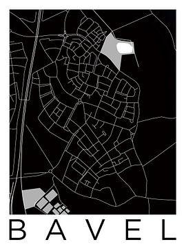 Bavel | Stadskaart in ZwartWit van - Wereldkaarten.shop -