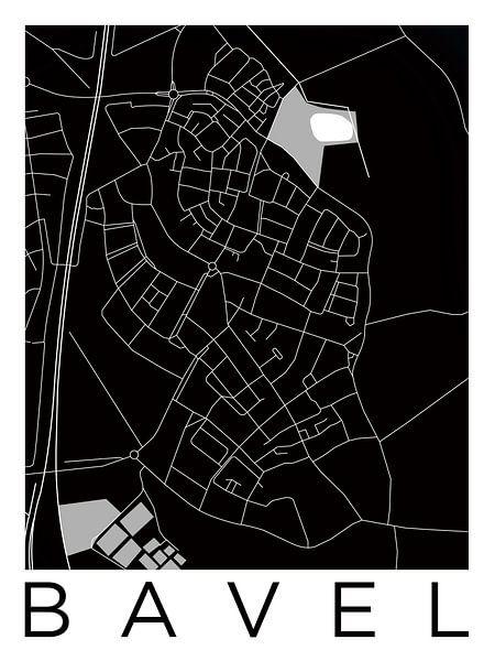 Bavel | Stadskaart in ZwartWit van Wereldkaarten.Shop