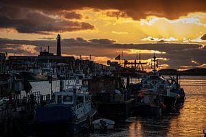 Haven IJmuiden, zonsondergang 2