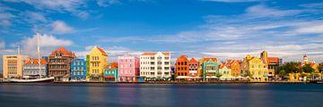 Handelskade in Willemstad Panorama #1 van