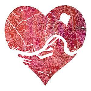 Rotterdam zit in mijn hart | Stadskaart van Rotterdam Noord en Zuid
