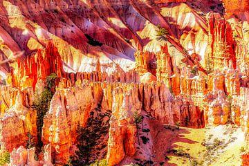 Schoonheidslandschap hoodoos in Bryce Canyon National Park USA van Dieter Walther