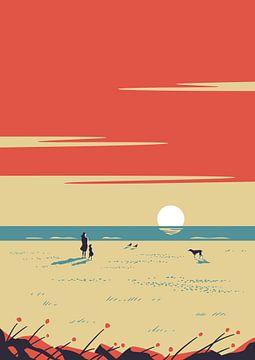 Le rouge du coucher de soleil sur Rene Hamann