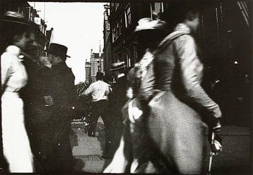 Wandelaars op het Spui en de Kalverstraat, George Hendrik Breitner
