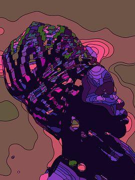 Afrikaanse Vrouw met hoofddoek van The Art Kroep