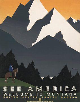 Zie Amerika: Welkom in Montana van Vintage Afbeeldingen