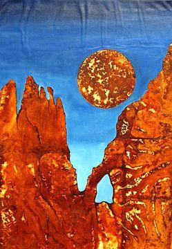 VU 181 Rote Bergformation van Heinz Sterzenbach