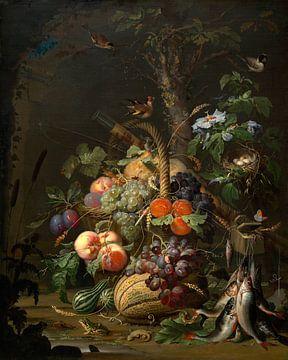 Stillleben mit Obst, Fisch, und ein Nest, Abraham Mignon von Liszt Collection
