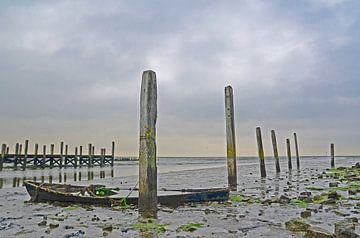Das Boot im Hafen von De Cocksdorp, Texel von Wim van der Geest