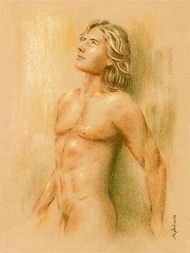 Adonis - Mannelijke Naakt van Marita Zacharias