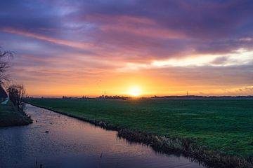 Zonsopgang in de polder van Casper De Graaf