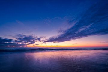 Nach Sonnenuntergang an der Nordsee von Olaf Oudendijk