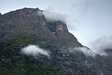 schroffe Gebirgsfelsen in Norwegen von Karijn Seldam