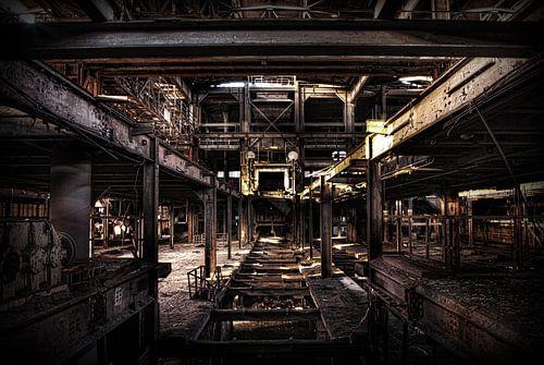 Leegstaande sinter fabriek