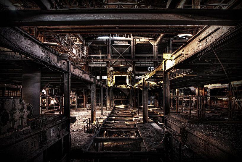 Leegstaande sinter fabriek van Eus Driessen