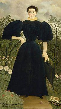 Porträt von Madame M, Henri Rousseau