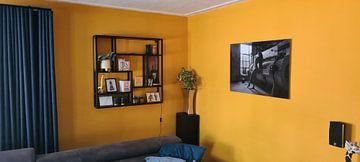 Klantfoto: Artistiek naakt urban locatie low-key in zwartwit