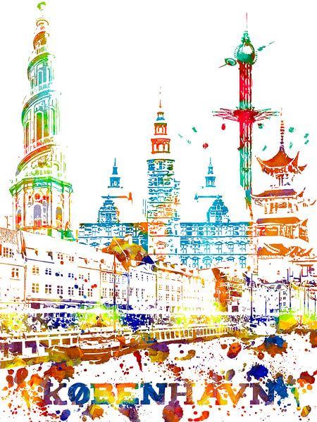 Copenhague sur Printed Artings