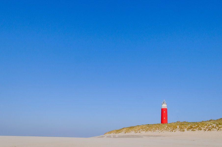 Vuurtoren op Texel Noord Holland, Netherlands