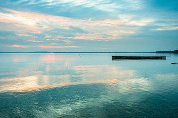 Sonnenuntergang am Chiemsee von Holger Debek