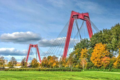 Rotterdam: Pont Guillaume et Ile du Nord sur