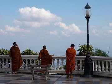 Monniken bij Doi Suthep von Roos Vogelzang