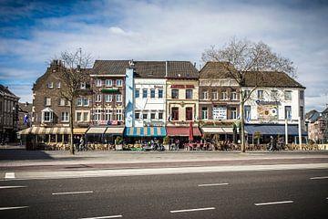 Stationsplein Roermond Limburg Nederland van Margriet Cloudt