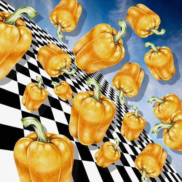 Flying Peppers van Marja van den Hurk