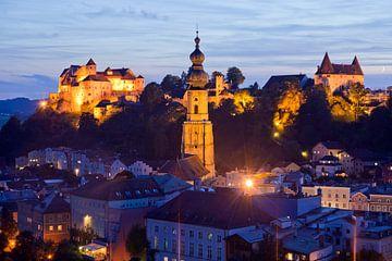 Stadtansicht Burghausen, Bayern von Peter Schickert