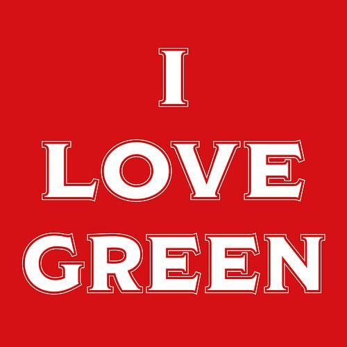 I love green (in red) van