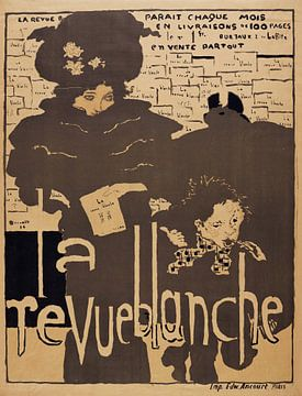 La revue blanche - Pierre Bonnard, 1894 litho van Atelier Liesjes