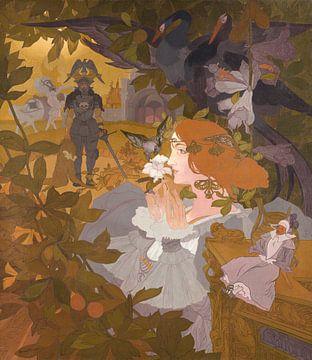 Projekt für einen Wandteppich (Die Fee Caprice), Georges de Feure