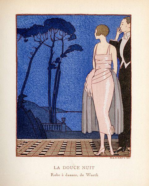 Jugendstil Vintage tijdschrift cover Gazette Bon Ton, 1920 van Martin Stevens