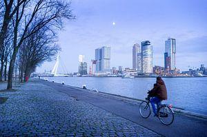 Koude winterdag in Rotterdam