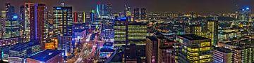 Rotterdam Centrum Nachtpanorama sur Bob de Bruin