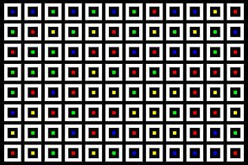 Nested | Center | 12x08 | N=02 | Random #01 | RGBY van Gerhard Haberern