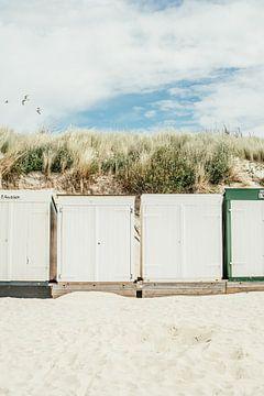 Chalets de plage à Zoutelande sur Patrycja Polechonska