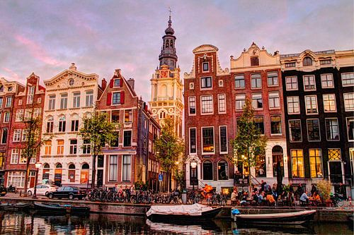 Kloveniersburgwal 50 Amsterdam in de avond