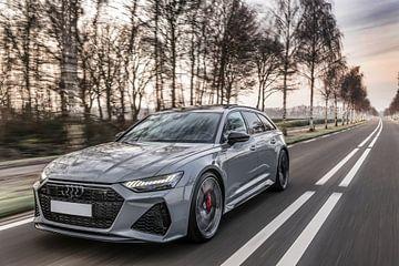 Nardo grijze Audi RS6 van Bas Fransen